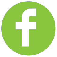 FB icon round green