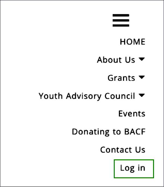 BACF menu image